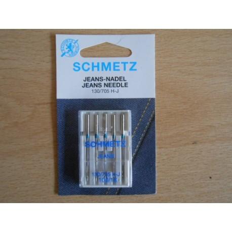 paquet de 5 aiguilles JEANS Schmetz 130/705H-J