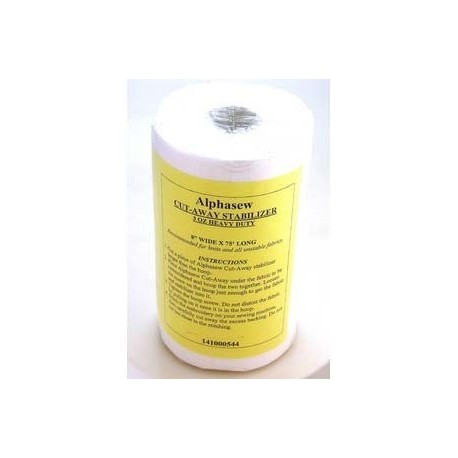 support entoilage broderie cut away 20cm x 22m