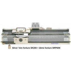 MACHINE A TRICOTER SK280 + SRP60N SILVER REED